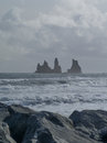 Dyrholaey vik iceland view of arch Stock Photography