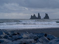 Dyrholaey vik iceland view of arch Stock Photos