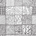 Dzen doodle seamless abstract pattern Royalty Free Stock Photography