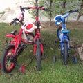 Dzieciaka rower Obrazy Royalty Free