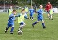 Dzieciaki dopasowywają piłkę nożną Obrazy Stock