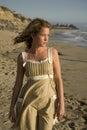 Dziewczyna na ocean young Fotografia Royalty Free