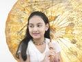 Dziewczyny Oriental parasol Obrazy Royalty Free