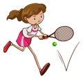 eński gracz w tenisa Zdjęcia Stock