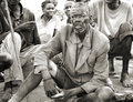 image photo : Old thin African man in tattered,dirty clothing,Uganda