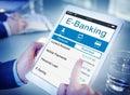 E banking bank banking credit card finance money concept Stock Photo