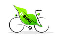 E bike simplified illustration of an with plug Royalty Free Stock Images