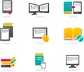 E-book, audiobook and literature icons - 2 Royalty Free Stock Images