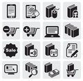 E-book icons Royalty Free Stock Photos