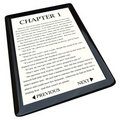 E-Book Reader with Novel on Screen Royalty Free Stock Photo