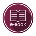 E-Book sign icon with long shadow