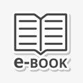 E-Book sign sticker
