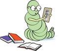 E-Bookworm Royalty Free Stock Photo
