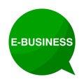 E business, Green Speech Bubble