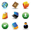 E-business icons Royalty Free Stock Image