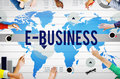E-Business Online Networking Technology Marketing Commerce Conce Royalty Free Stock Photo
