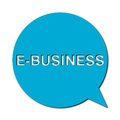 E business with shadow, Speech Bubble