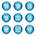 E-business web icons, glossy sphere series Stock Images