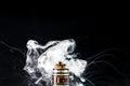 E-Cigarette vape explosion Royalty Free Stock Photo