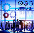 E-commerce Commercial Purchasing Digital Internet Concept Royalty Free Stock Photo