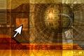 E-commerce concept background - orange Royalty Free Stock Photo