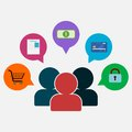 E-commerce design Business concept Royalty Free Stock Photo