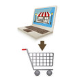 E commerce design over white background vector illustration Stock Image