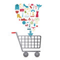 E commerce design over white background vector illustration Stock Photography
