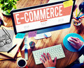 E-commerce Digital Marketing Networking Concept Royalty Free Stock Photo