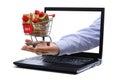 E-commerce gift shopping Royalty Free Stock Photo