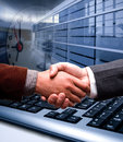 E-commerce handshake Stock Photo