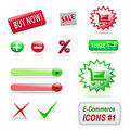 E-commerce icons, part 1 Stock Photography