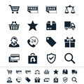 E commerce icons simple clear and sharp easy to resize no transparency effect eps file Stock Photography