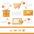 E-commerce infographic flat set - discount card - vector illustration for shop