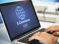 E-Commerce Marketing Online Technology World Concept Royalty Free Stock Photo