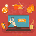E-commerce online shopping buy now concept internet market Royalty Free Stock Photo