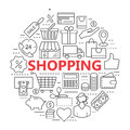 E-commerce. Outline web icons set. Royalty Free Stock Photo
