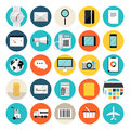 E commerce and shopping flat icons design set modern style vector illustration concept of objects finance marketing items Royalty Free Stock Photos