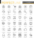 E-commerce and shopping thin line web icons set. Outline icon design. Royalty Free Stock Photo