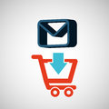 E-commerce store email envelope digital Royalty Free Stock Photo