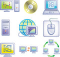 E-communications vector icons set Stock Photo