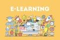 E-learning concept illustration.