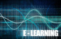E learning or electronic online as art Royalty Free Stock Images