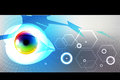 E learning eye iris technology background Stock Photography