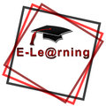 E-Learning - Red font with black hat Royalty Free Stock Image