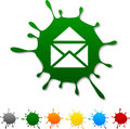 E-mail  blot. Royalty Free Stock Images