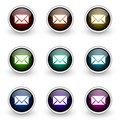 E-mail button set Stock Images