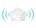 E mail communication illustration design over white Stock Photos