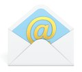 E-mail envelope Royalty Free Stock Photos