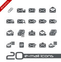 E-mail Icons // Basics Royalty Free Stock Photo